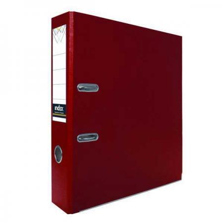 Папка-регистратор с покрытием PVC, 80 мм, А4, бордовая IND 8/24 PVC БОРД