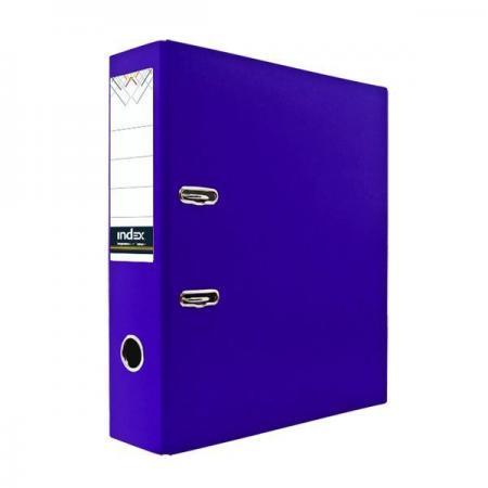 Папка-регистратор с покрытием PVC, 80 мм, А4, фиолетовая IND 8/24 PVC ФИОЛ spongebob squarepants pvc anime figures 8 figure set