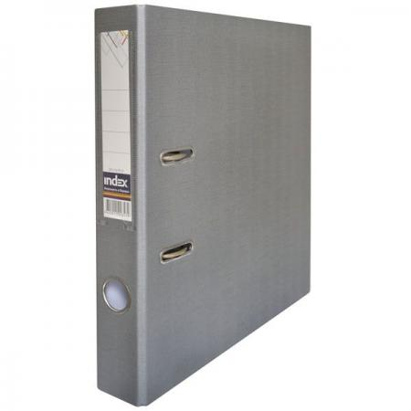 Папка-регистратор с покрытием PVC, 50 мм, А4, серая IND 5/50 PP GY