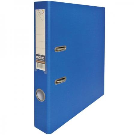 Папка-регистратор с покрытием PVC и металлической окантовкой, 50 мм, А4, синяя IND 5/50 PP NEW BU