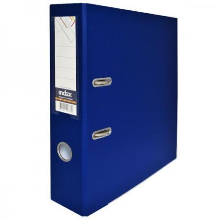 Папка-регистратор с покрытием PVC, 80 мм, А4, темно-синяя IND 8/50 PP DB папка proff а4 60 карманов синяя
