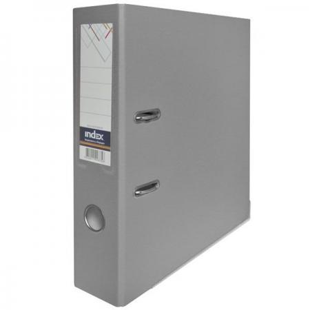 Папка-регистратор с покрытием PVC, 80 мм, А4, серая IND 8/50 PP GY папка регистратор с покрытием pvc 80 мм а4 черная ind 8 24 pvc чер