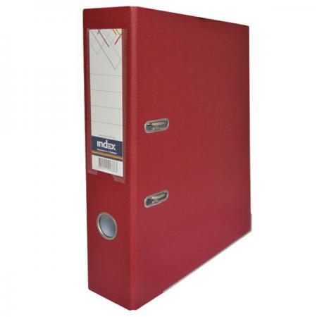 Папка-регистратор с покрытием PVC, 80 мм, А4, бордовая IND 8/50 PP MN папка регистратор с покрытием pvc 80 мм а4 черная ind 8 24 pvc чер