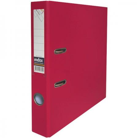 Папка-регистратор с покрытием PVC и металлической окантовкой, 80 мм, А4, бордовая IND 8/50 PP NEW MN
