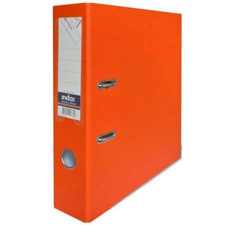 Папка-регистратор с покрытием PVC, 80 мм, А4, оранжевая IND 8/50 PP OR папка регистратор с покрытием pvc 80 мм а4 черная ind 8 24 pvc чер