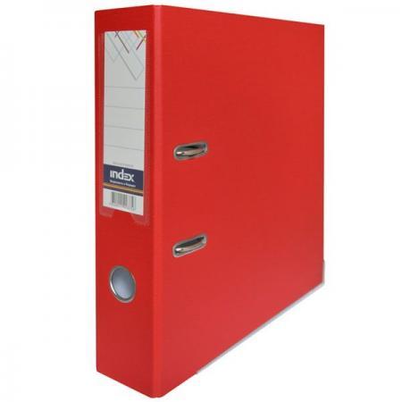 Папка-регистратор с покрытием PVC, 80 мм, А4, красная IND 8/50 PP RD папка регистратор с покрытием pvc 80 мм а4 черная ind 8 24 pvc чер