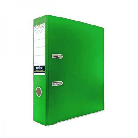Папка-регистратор из цветного картона, 50 мм, А4, зеленая IND 5 ECO ЗЕЛ/30 папка на 60 карм а4 proff 0 75 мм зеленая db60ab 03
