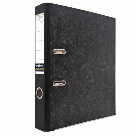 Папка-регистратор под мрамор, 80 мм, А4, черная IND 8/50 папка регистратор aro мрамор 50 мм