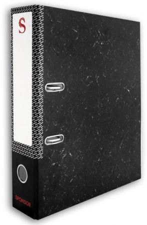 Папка-регистратор 80 мм, черный мрамор, разобранная SPR 8/50 папка регистратор aro мрамор 50 мм