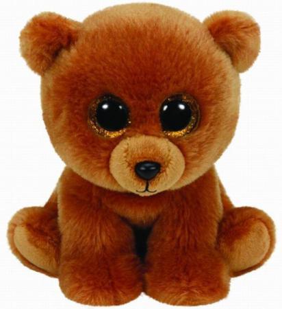 Мягкая игрушка медведь TY Мишка Brownie 25 см коричневый плюш 90222 ty