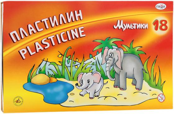 Пластилин МУЛЬТИКИ со стеком, 18 цв., 360 г цена 2017