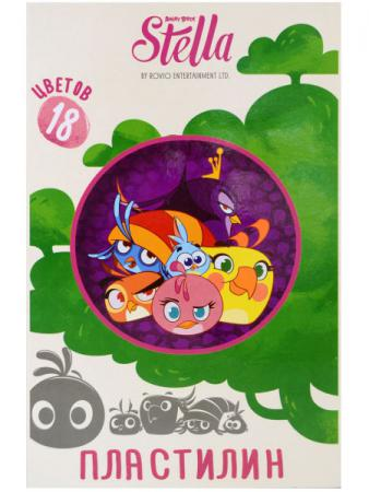 Набор пластилина Action! STELLA BY ANGRY BIRDS 18 цветов SA-MC18-360 салфетки angry birds stella uni