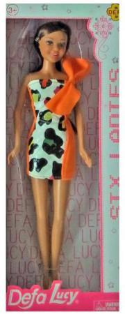 Кукла Defa Lucy Модная 29 см в платье с оранжевым бантом 8316orange кукла defa lucy модная с бантом orange 8316or