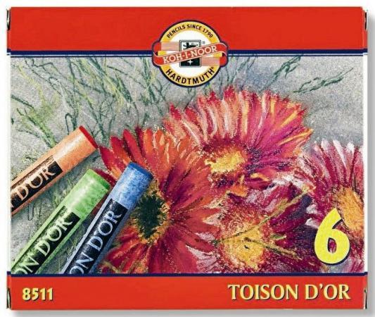 Мелки акварельные TOISON D'OR 6 цветов 8511 мэрдэс компьютерный стол мэрдэс ск 60см карамель венге wycv yht