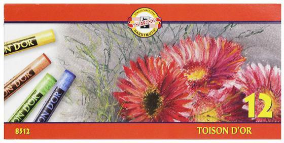 Купить Мелки акварельные Koh-i-Noor Toison D'or 12 штук 12 цветов от 3 лет