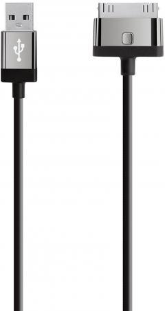 Кабель 30 pin 2м Belkin MIXIT круглый F8J041cw2m-BLK кабель lightning 1 2м belkin mixit круглый черный f8j144bt04 blk