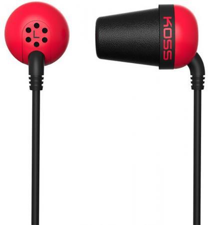 Наушники KOSS The Plug красный наушники koss the plug blue