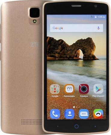 Смартфон ZTE Blade L5 Plus золотистый 5 8 Гб Wi-Fi GPS 3G смартфон micromax q397 champagne 5 5 8 гб wi fi gps 3g