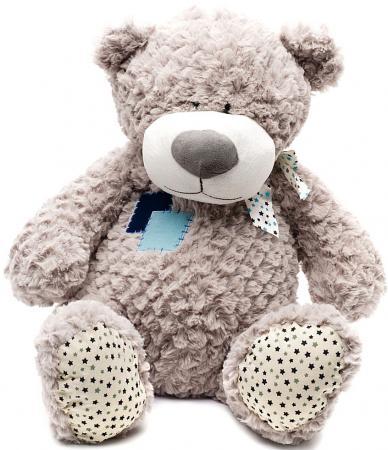 Мягкая игрушка медведь MAXITOYS МИШКА ЖОРИК 70 см серый текстиль 4612735100045 maxitoys котенок