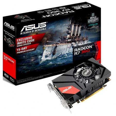 Видеокарта 2048Mb ASUS R7 360 PCI-E 128bit GDDR5 DVI HDMI DP HDCP MINI-R7360-2G Retail видеокарта asus geforce gt 710 2 sl 954mhz pci e 2 0 2048mb 1800mhz 64 bit dvi hdmi hdcp