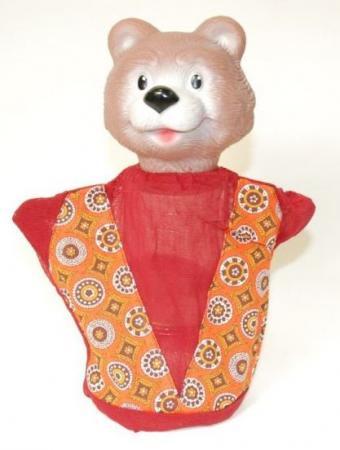 Кукла на руку Русский Стиль Медведь 27 см 11019 мягкие игрушки maxitoys петух михалыч в жилетке 30 см mt tsa 8318 30