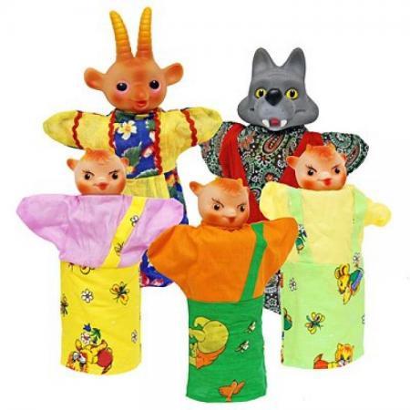 Кукольный театр Русский Стиль Козлята и Волк 5 предметов 11090 кукольный театр русский стиль
