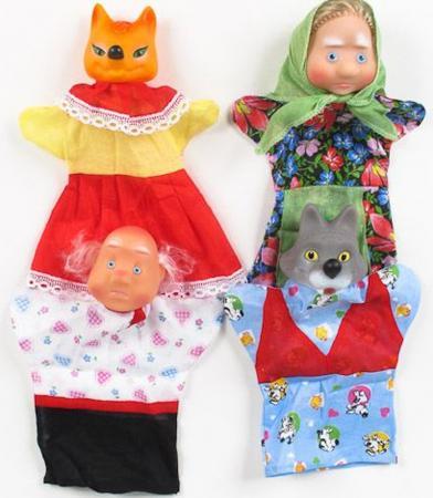Кукольный театр Русский Стиль Волк и Лиса 4 предмета 11250 игровой набор русский стиль три медведя 4 предмета 11064