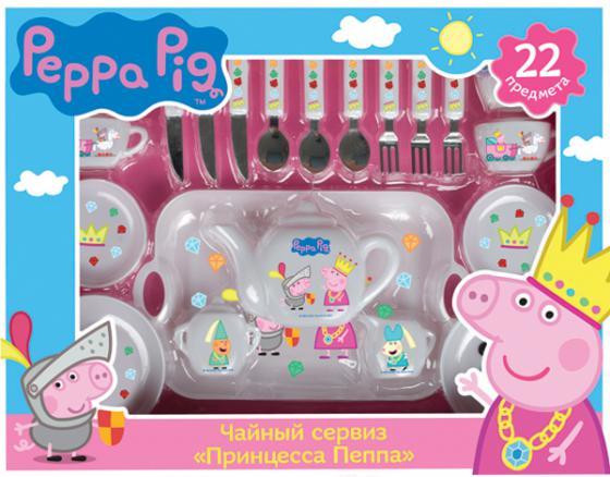 Чайный набор Росмэн Peppa Pig: Принцесса Пеппа 29700 росмэн игровой набор самолет peppa pig