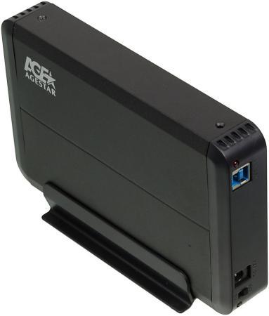 "все цены на Внешний контейнер для HDD 3.5"" SATA AgeStar 3UB3O8 USB3.0 пластик/алюминий черный"