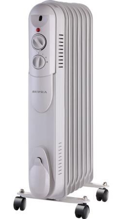 Масляный радиатор Supra ORS-07-S1 1500 Вт белый supra масляный радиатор supra ors 07 ms white