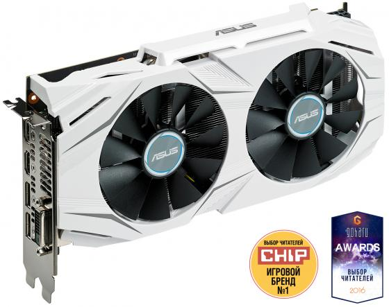 Видеокарта 6144 Mb ASUS GeForce GTX1060 DUAL-GTX1060-O6G Retail видеокарта asus nvidia geforce gtx 1060 1506mhz pci e3 0 3072mb 8008 mhz 192bit ph gtx1060 3g