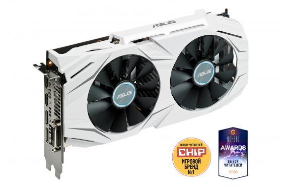 Видеокарта 3072Mb ASUS GeForce GTX1060 PCI-E 192bit GDDR5 DVI HDMI DP DUAL-GTX1060-O3G Retail видеокарта 6144 mb asus geforce gtx1060 pci e 192bit gddr5 dvi hdmi displayport strix gtx1060 6g gaming retail