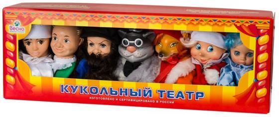 Кукольный театр ВЕСНА По сказкам №1 7 предметов В2799