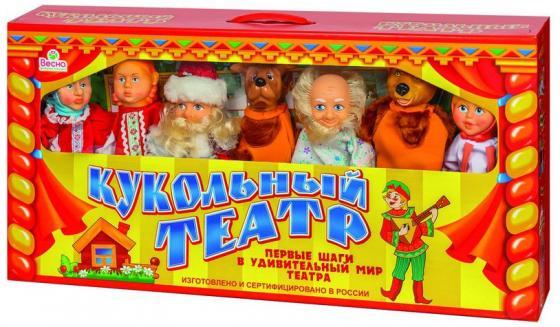Кукольный театр ВЕСНА 7 персонажей набор №2 В300 7 предметов