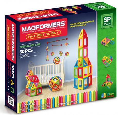 магнитный конструктор magformers 63144 my first buggy желтый Магнитный конструктор Magformers My First 30 элементов 63107/702001