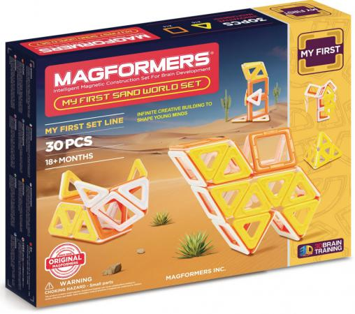 Магнитный конструктор Magformers My First Sand World set 30 элементов 702010 davis sarah sirett dawn my first learning library box my first world abc numbers hb