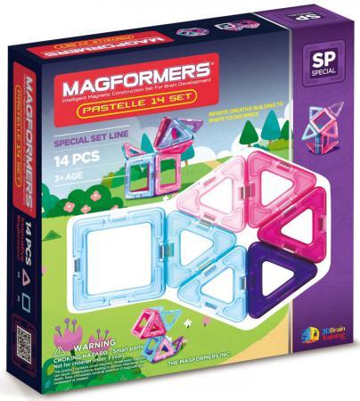 Магнитный конструктор Magformers Pastelle 14 элементов 704001 конструкторы magformers магнитный pastelle 14 63096