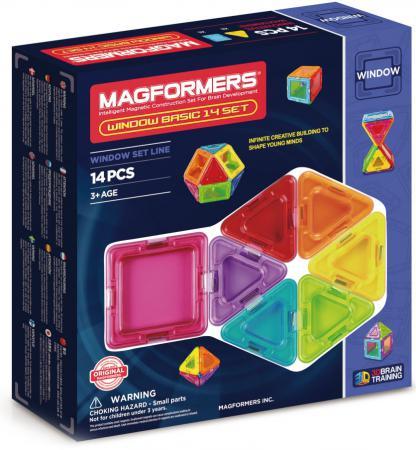 Магнитный конструктор Magformers Window Basic 14 элементов 714001 магнитный конструктор magformers window solid 14 элементов 714005