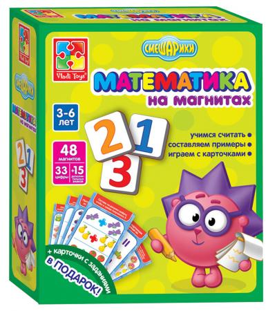 Игра 54 элемента Vladi toys Математика на магнитах Смешарики VT1502-07 vladi toys настольная игра обучарики времена года смешарики vladi toys