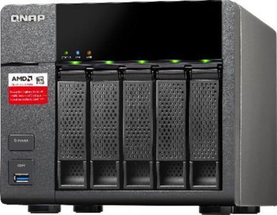 Сетевое хранилище QNAP TS-563-2G 2.0ГГц 5x3.5HDD hot swap 2xLAN 5xUSB корпус для hdd orico 9528u3 2 3 5 ii iii hdd hd 20 usb3 0 5