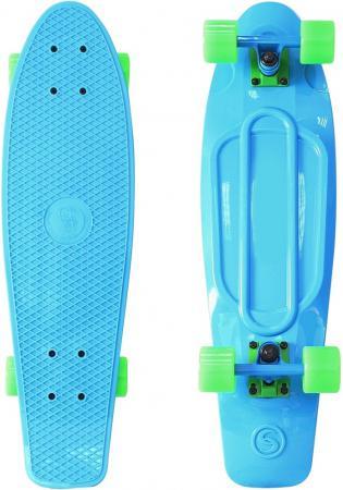 Скейтборд Y-SCOO Big Fishskateboard Print 27 RT винил 68,6х19 с сумкой BLUE/green 402-B green leaf print wrap dress