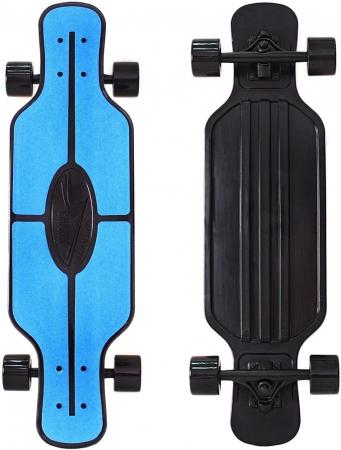 Скейтборд Y-SCOO Longboard Shark TIR 31 RT пластик 79х22 с сумкой BLUE/black 408-B zndiy bry y 16 16mm y shaped air pneumatic quick fitting push in connectors blue black 10 pcs