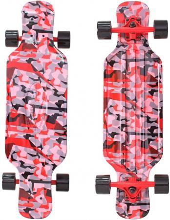 Скейтборд Y-SCOO Longboard Shark TIR 31 RT пластик 79х22 с сумкой CHAOS RED/black 408-Ch chaos панама chaos stratus sombrero