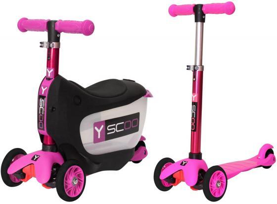 Самокат-каталка трехколёсный Y-SCOO Mini Jump&Go розовый