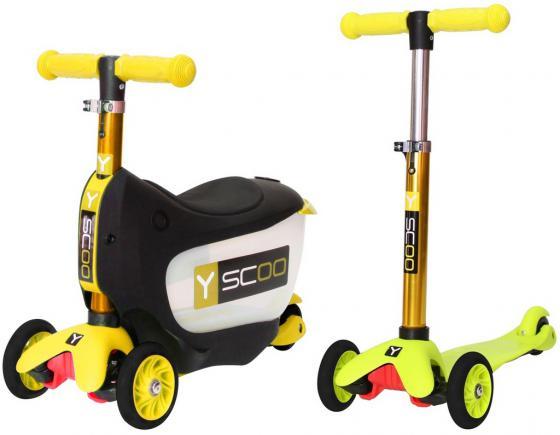 Самокат-каталка трехколёсный Y-SCOO Mini Jump&Go желтый