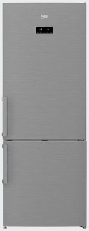 Холодильник Beko RCNE520E21ZX серебристый холодильник beko rcsk310m20s серебристый