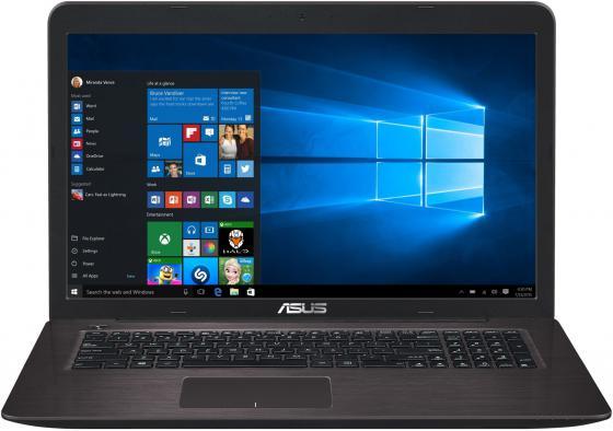 Ноутбук ASUS X756UV-TY042T 17.3 1600x900 Intel Core i3-6100U 1Tb 4Gb nVidia GeForce GT 920MX 2048 Мб коричневый Windows 10 Home 90NB0C71-M00420 ноутбук acer extensa 2519 c298 nx efaer 051
