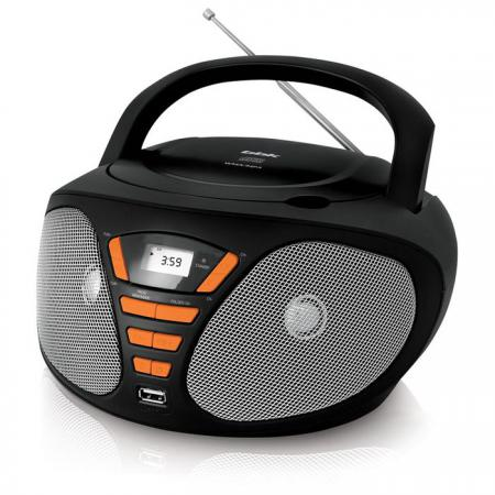Магнитола BBK BX180U черный оранжевый bbk bx180u white cyan cd mp3 магнитола