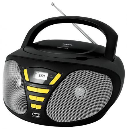 Магнитола BBK BX180U черный желтый аудиомагнитола bbk bx180u 390412 черный желтый