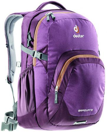 Городской рюкзак с отделением для ноутбука Deuter Graduate 28 л черничный 80232-5607 сумка с отделением для ноутбука deuter pannier 14 л бирюзовый черный 85093 7321